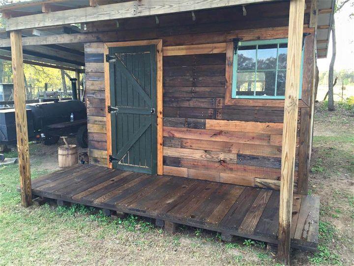 diy pallet shed designs