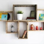 DIY Decorative Pallet Shelves for Storage