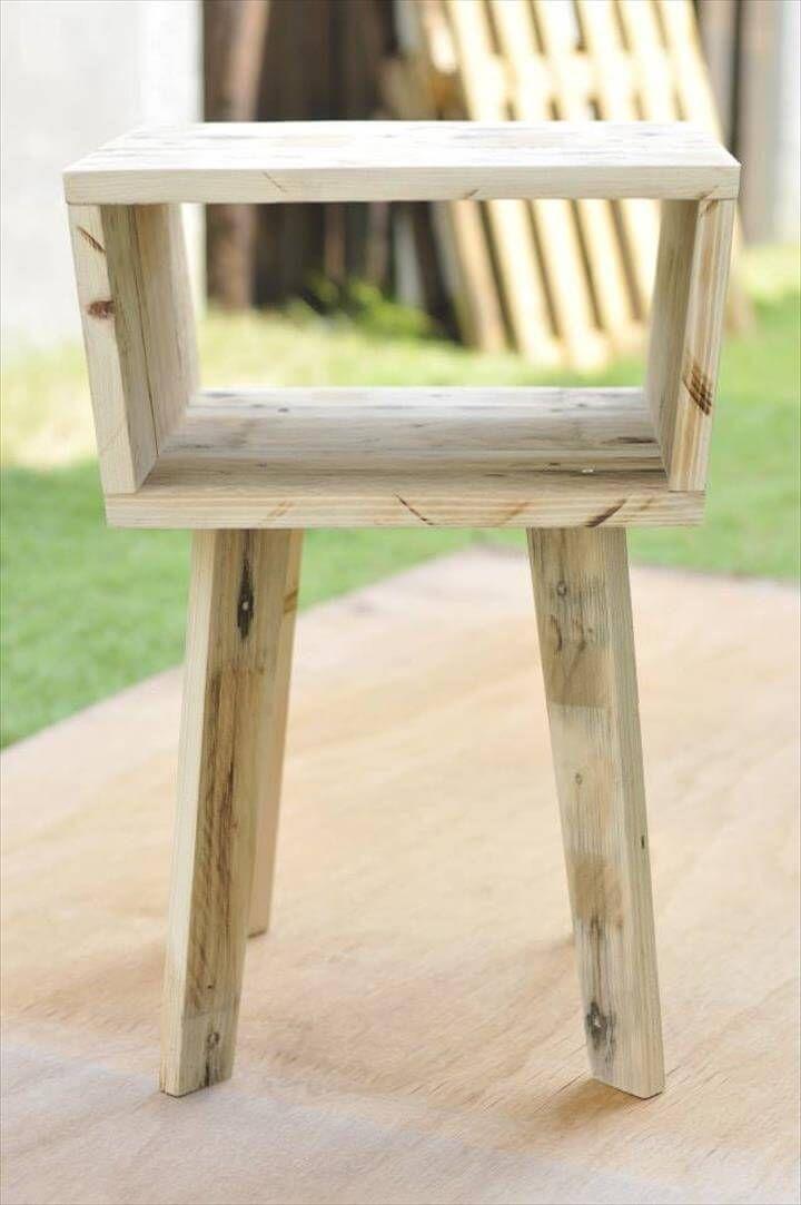 Pallet unique side table