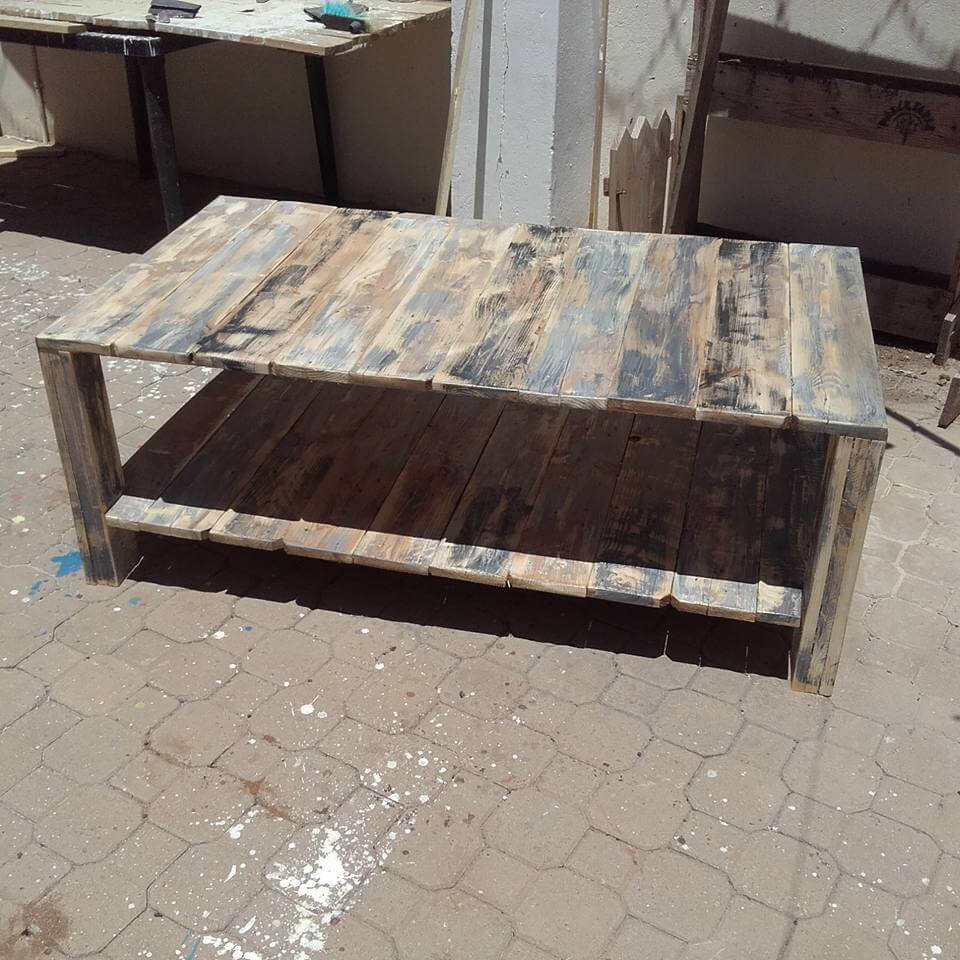 pallet xl size coffee table