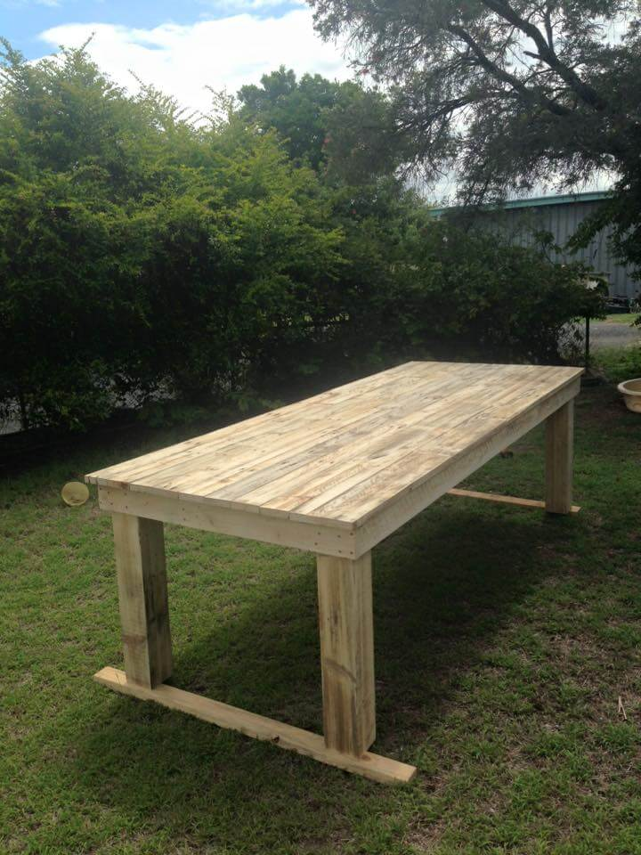Large Pallet Dining Table 99 Pallets