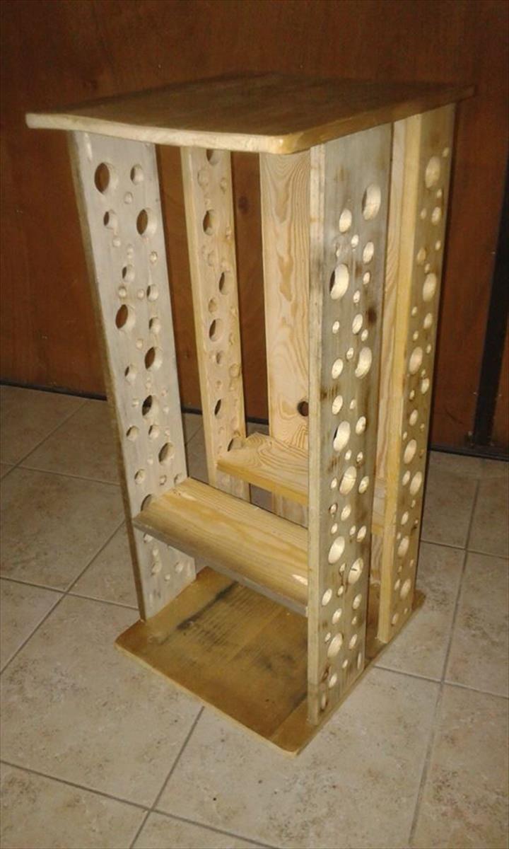 Handmade Pallet Fire Wood Storage