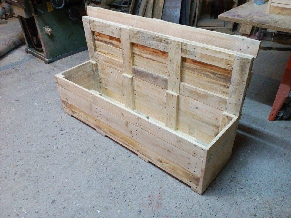 pallet bench with storage 99 pallets