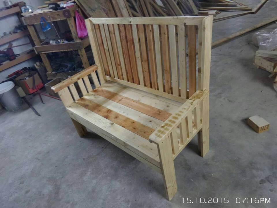 garden bench made from pallets 99 pallets
