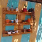 DIY Pallet Garden Wall Planter / Shelving Unit