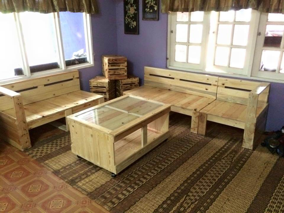 Pallet Living Room Furniture Set 99 Pallets
