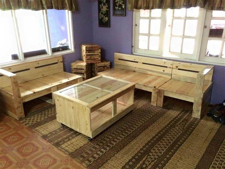 Pallet Living Room Furniture Set | 99 Pallets on Pallet Room Ideas  id=44497