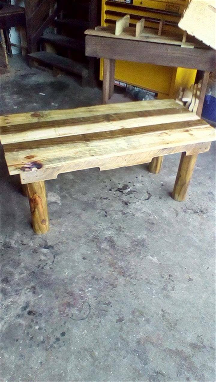 Diy Pallet Sofa With Table 99 Pallets - Repurposd pallet rustic coffee table