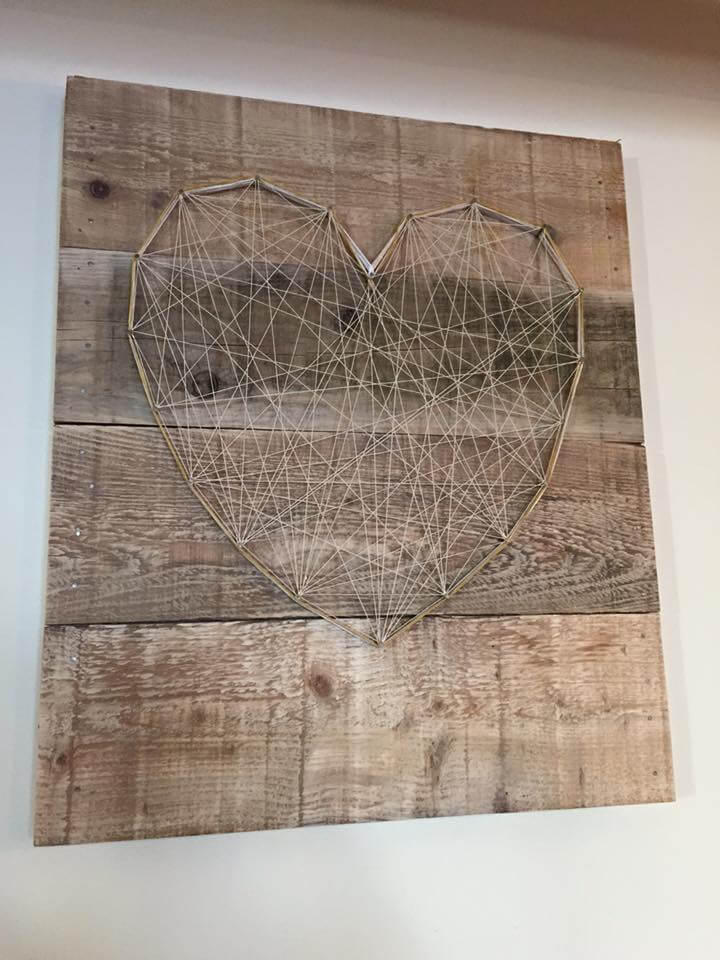 Repurposed pallet wall art piece