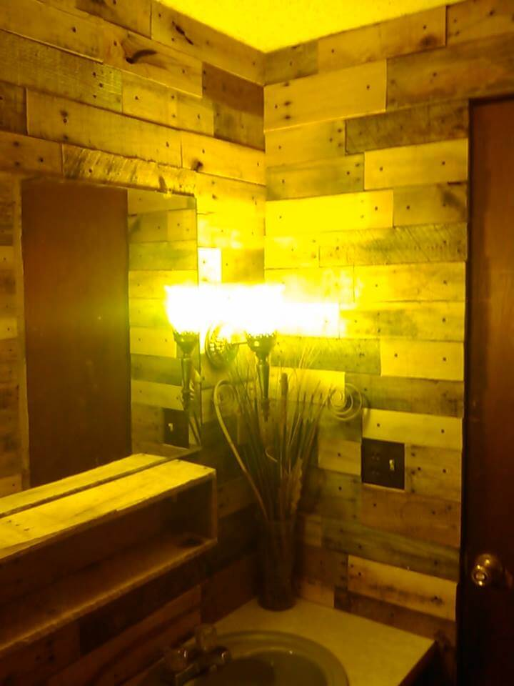 Bathroom Wall With Pallet Wood 99 Pallets