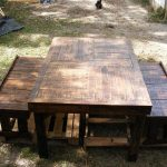 Pallet Benches and Dining Table Set