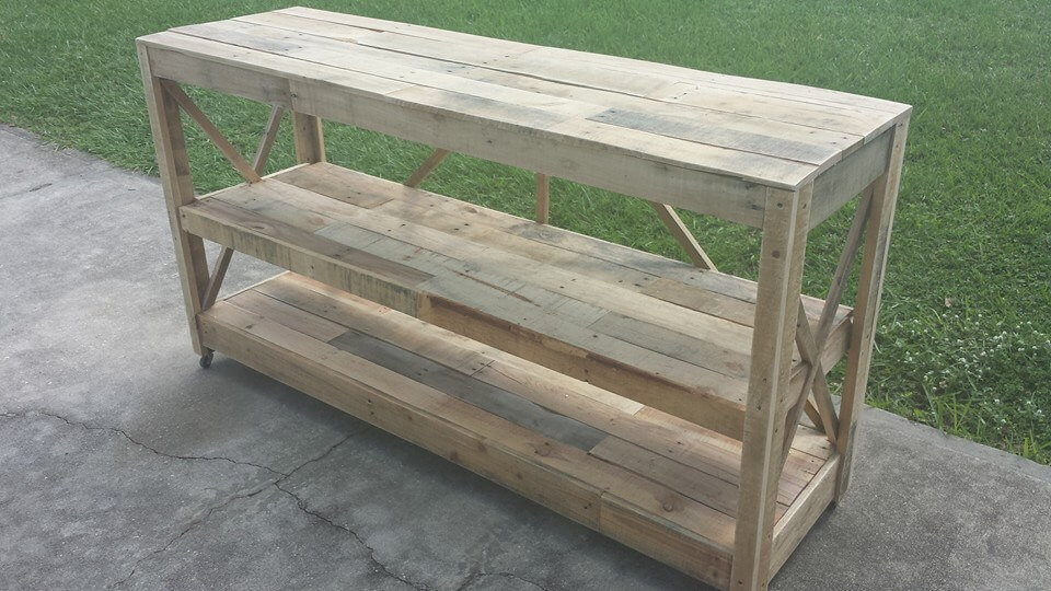accent pallet console table
