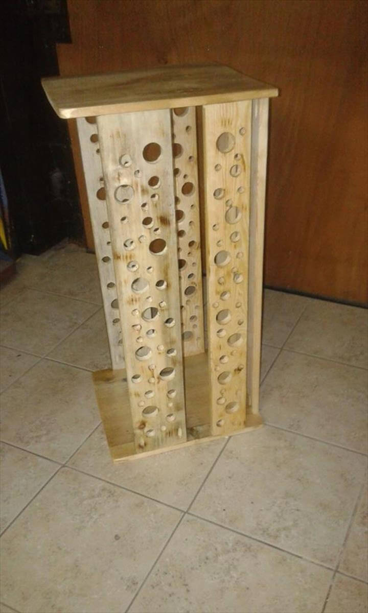Pallet firewood storage box 99 pallets for Pallet wood storage box
