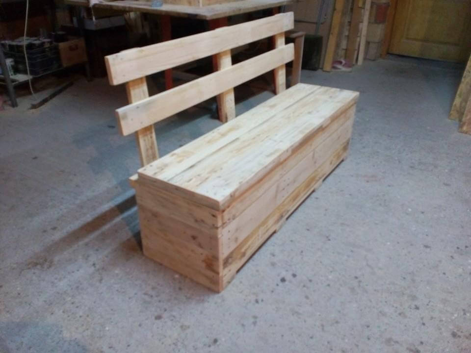 Pallet Bench With Storage | 99 Pallets