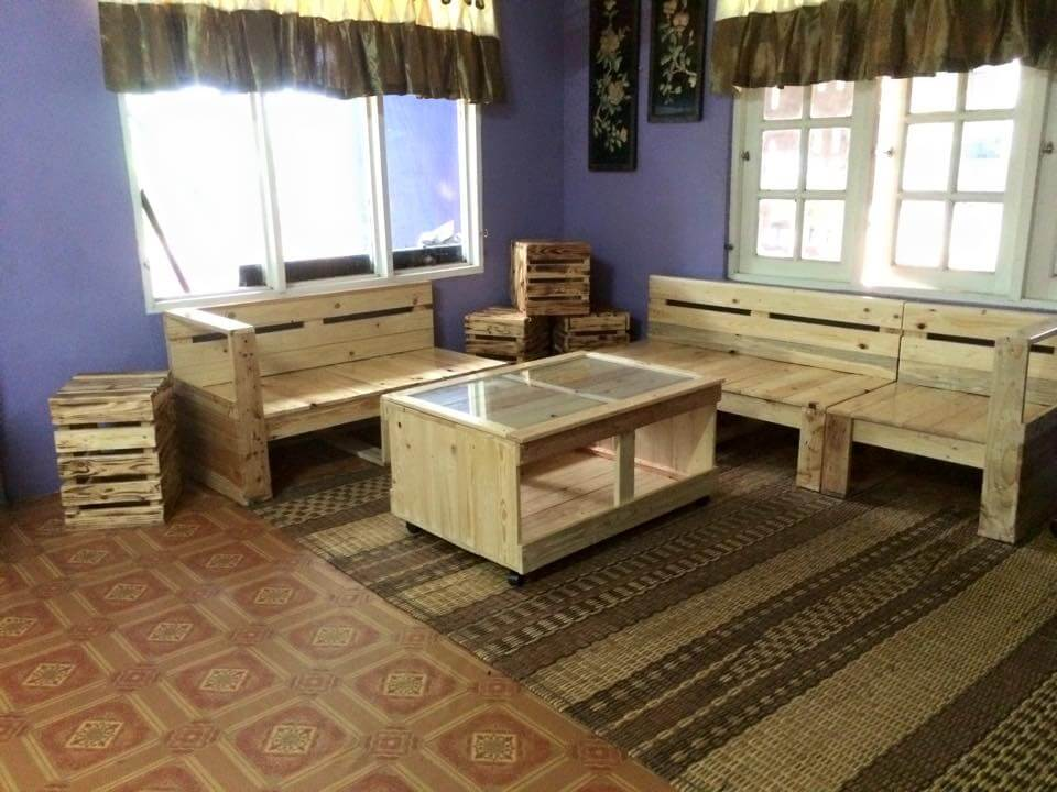 gorgeous diy pallet living room furniture set