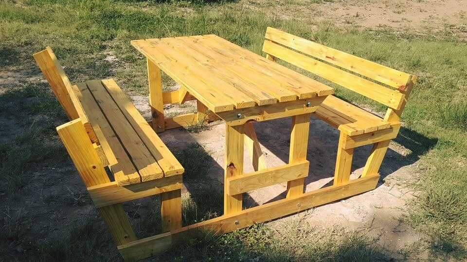 diy pallet picnic furniture for garden