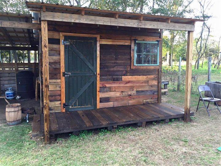 DIY Pallet Shed - Pallet Outdoor Cabin Plans
