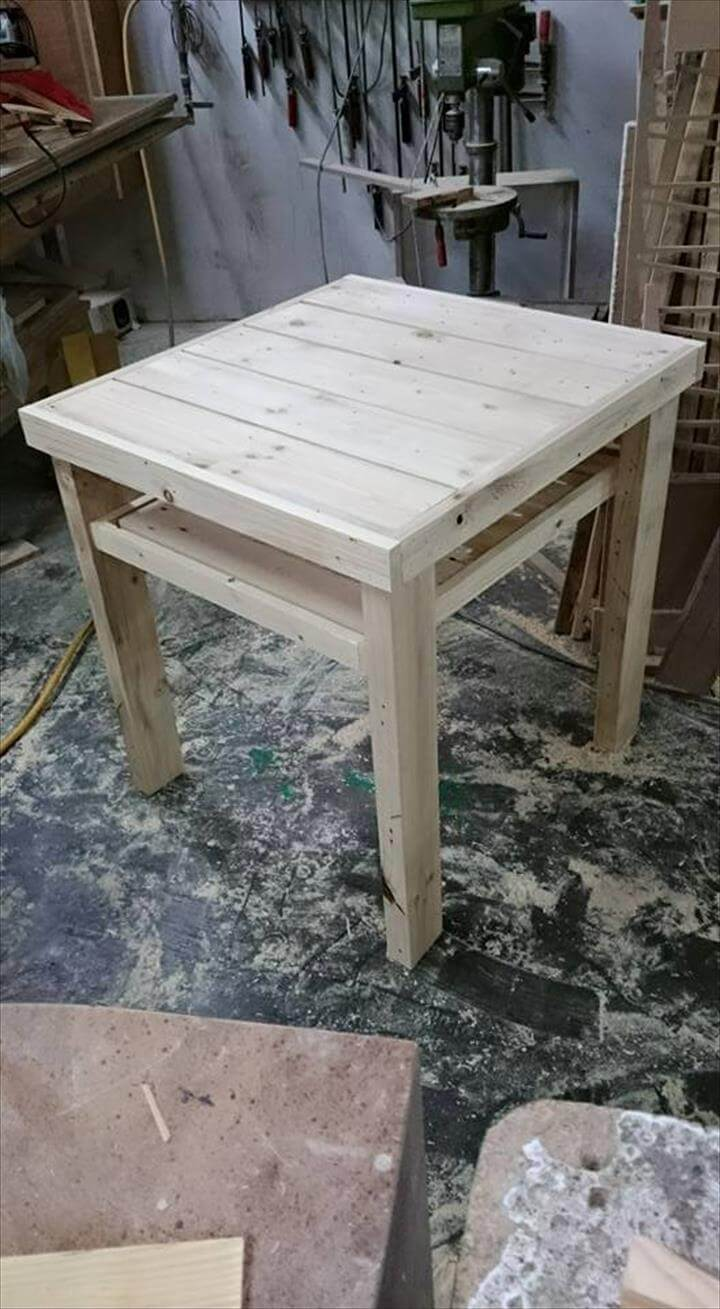 Wooden pallet side table 99 pallets for End tables made from pallets