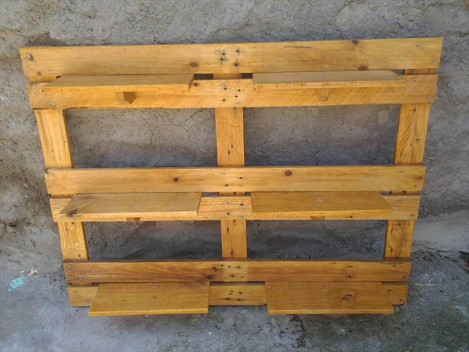 DIY Pallet Garden Wall Planter Shelving Unit 99 Pallets