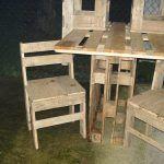 Pallets wood Bar Table Set