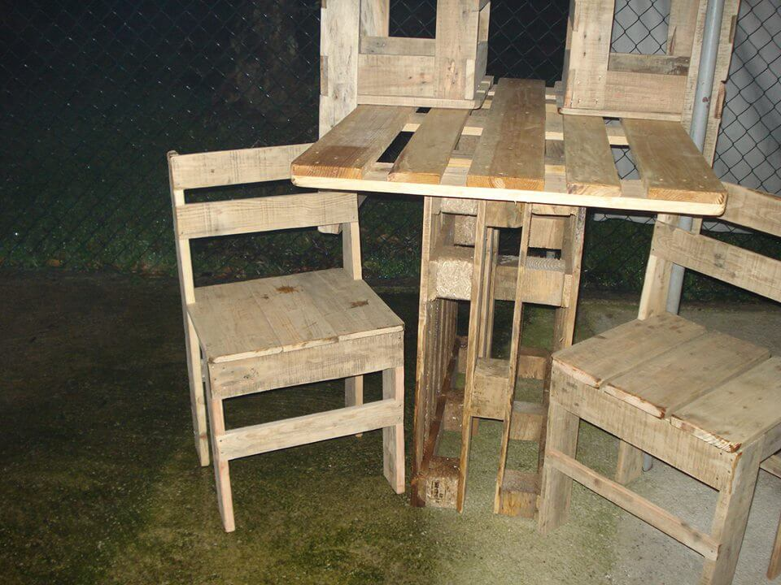 pallet bar table set