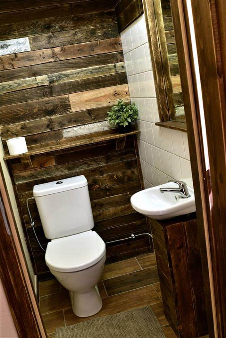 pallet bathroom