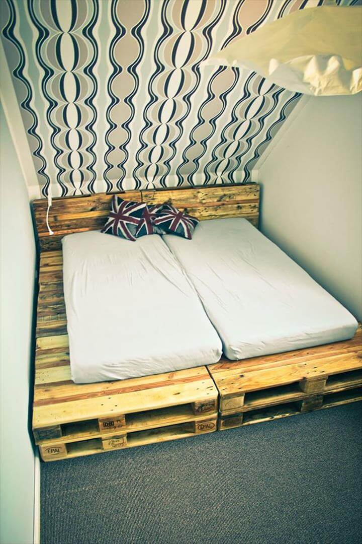 How To Make Bed Platform From Pallets