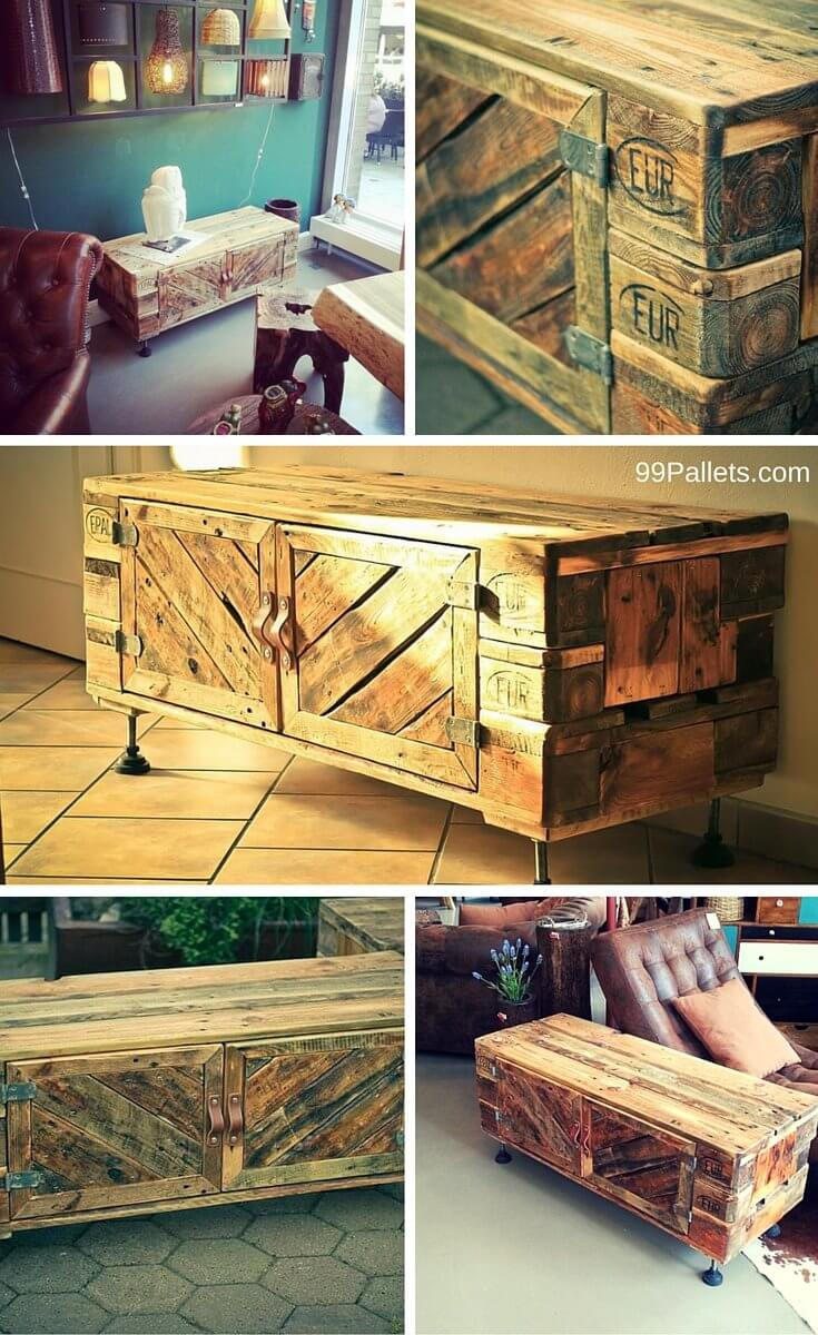 Diy pallet sofa with table 99 pallets - Step By Step Pallet Furniture Plans