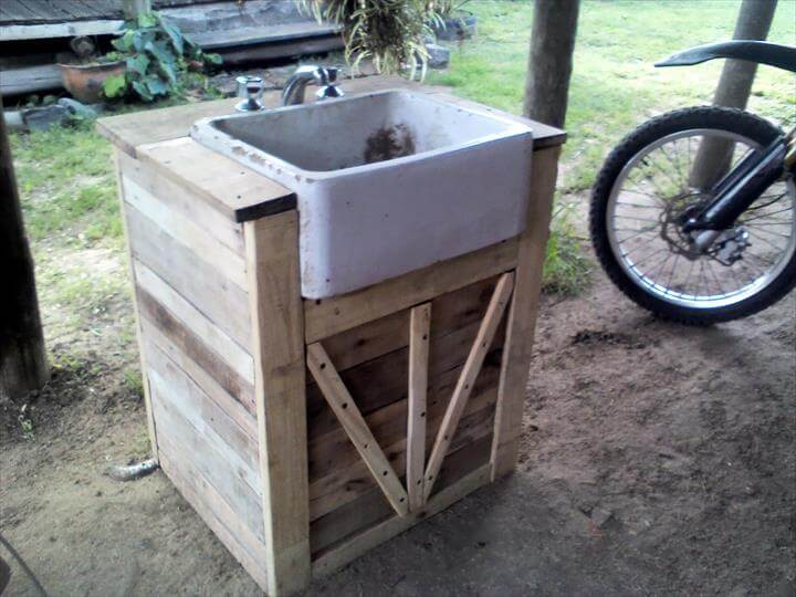 Upcycled Pallet Bathroom Vanity   99 Pallets. Handmade Bathroom Vanities   Rukinet com