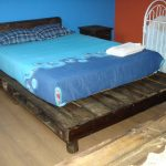 Wooden Pallet Bed in Rustic Style