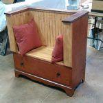 Old Dresser Turned into Pallet Bench