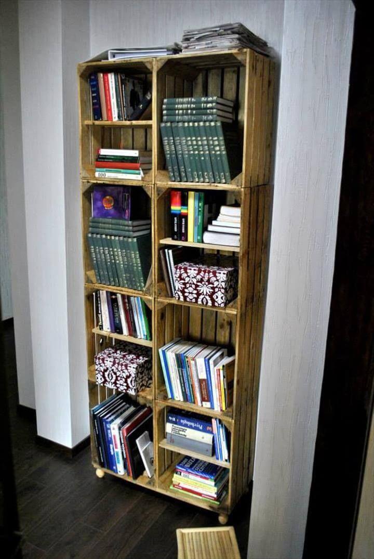 diy pallet bookcase