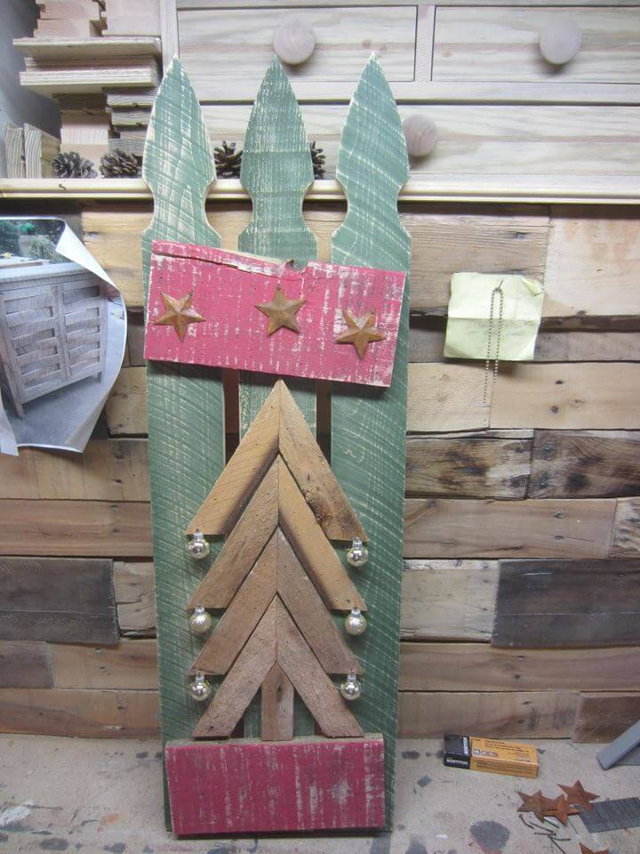 gorgeous pallet wall art piece