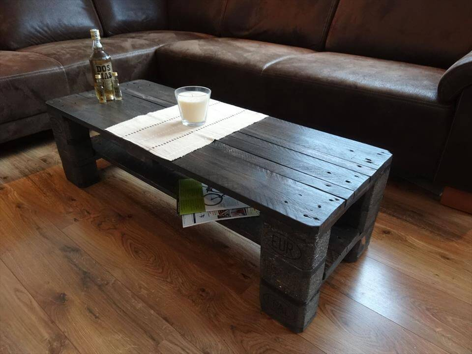 epal pallet black coffee table | 99 pallets