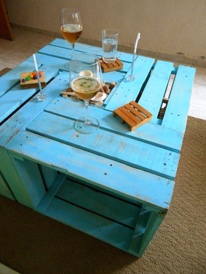 wooden Pallet multi functional coffee table