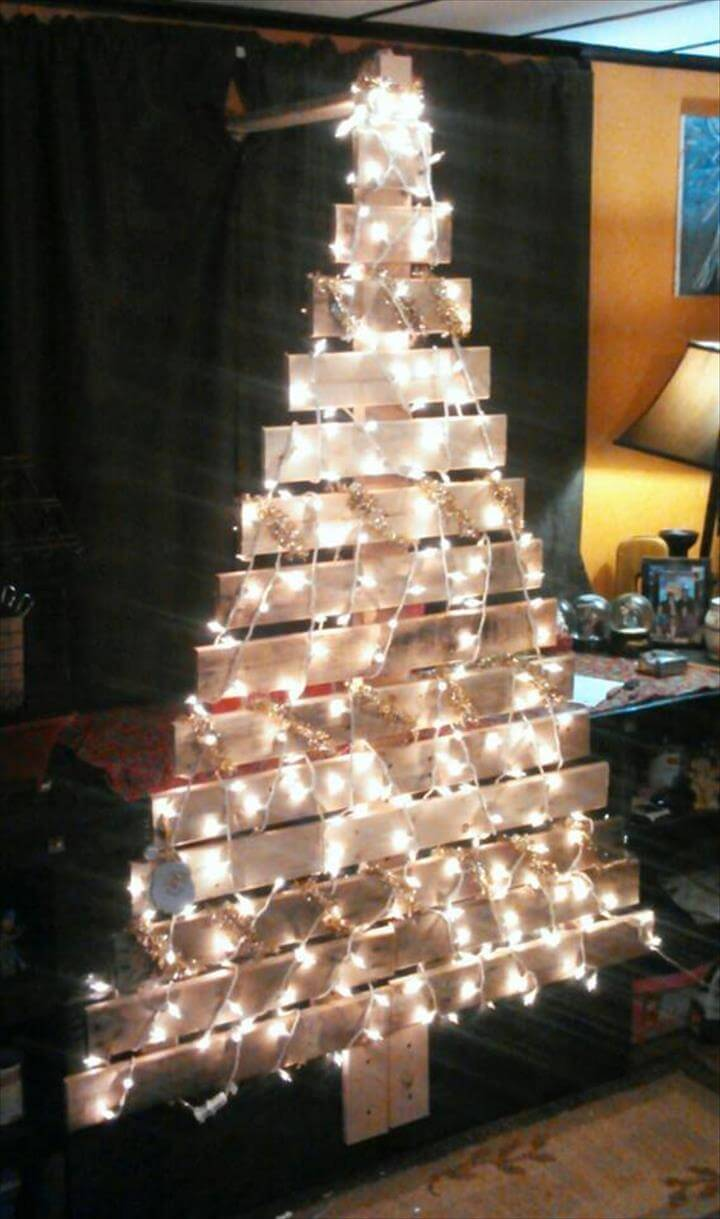 3 Home Decor Trends For Spring Brittany Stager: Pallet Tree For Festive Decor