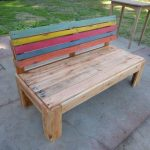 Pallet Outdoor Bench with A Comfort Back