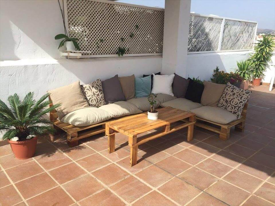Build Pallet Outdoor Furniture Set 99 Pallets