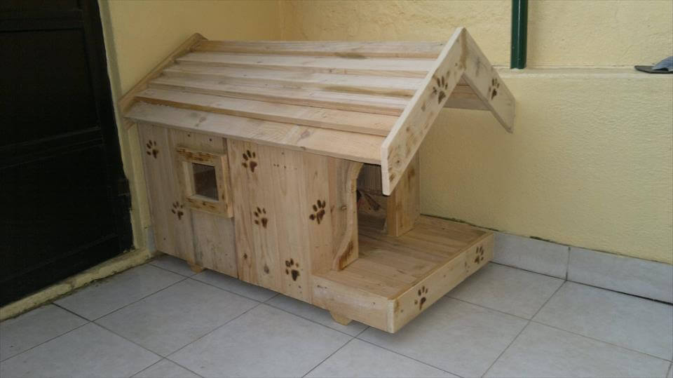how to build a dog house out of pallets