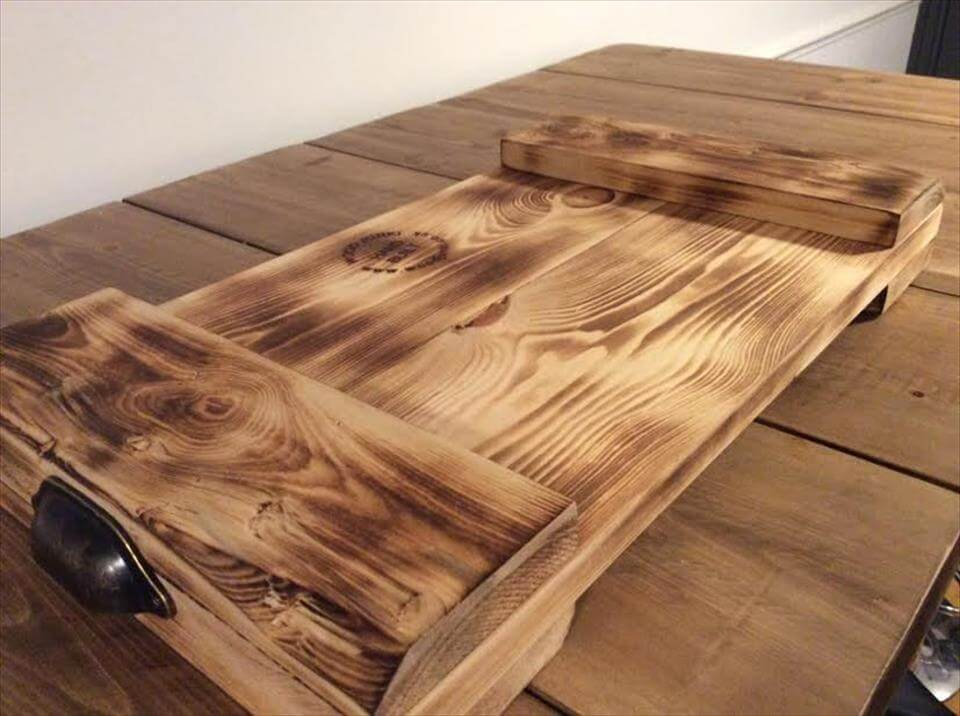 wooden pallet tray