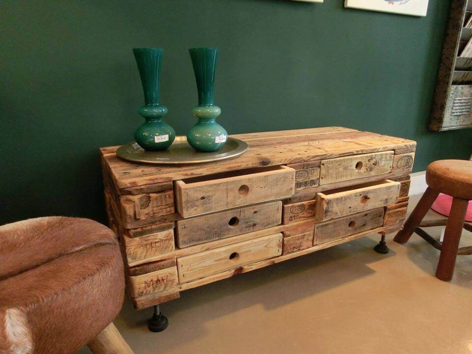 Pallet Chest Of Drawers Coffee Table 99 Pallets