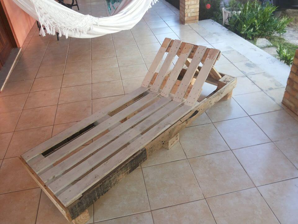 handcrafted pallet lounger
