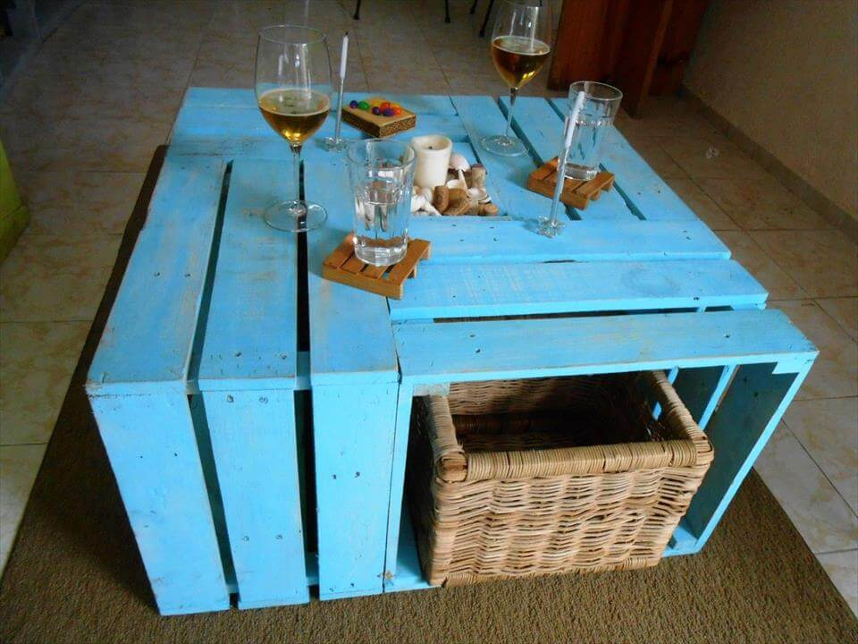 Accent Pallet multi functional coffee table