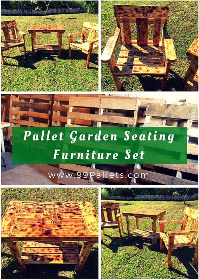 Pallet Garden Seating Furniture Set