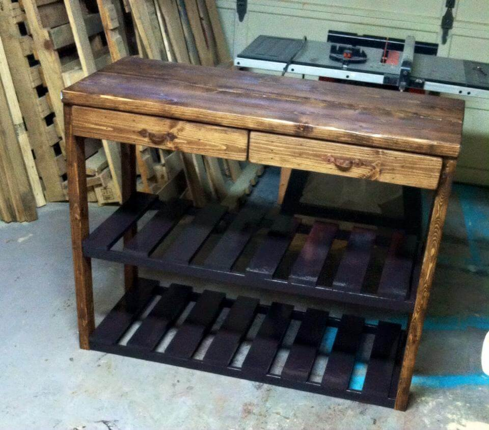Kitchen island made from pallets 99 pallets for How to make a pallet kitchen table