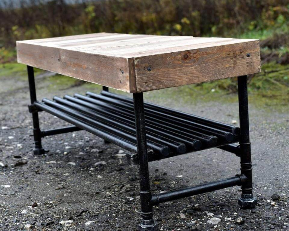 Wooden Pallet Industrial Coffee Table   99 Pallets
