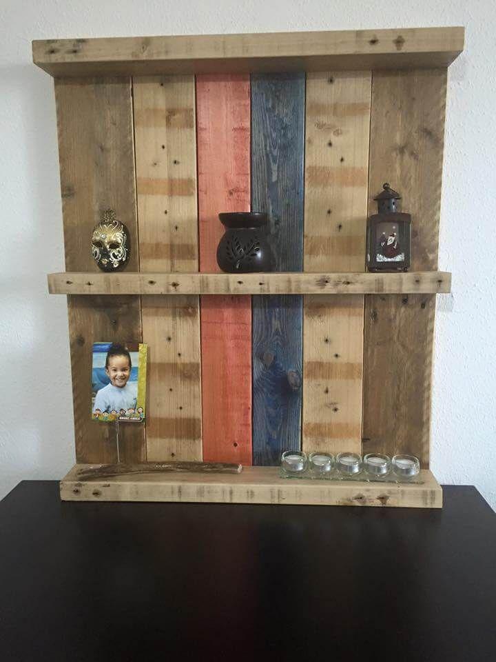 pallet decorative shelf