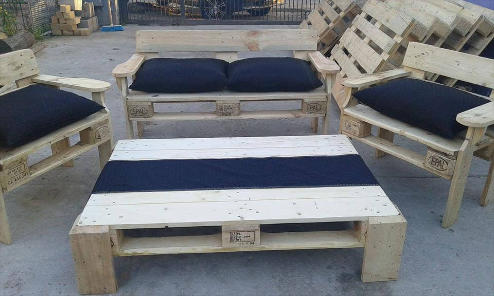 pallet patio seating set