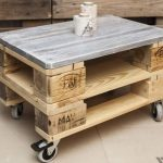 Euro Pallet Coffee Table on Wheels