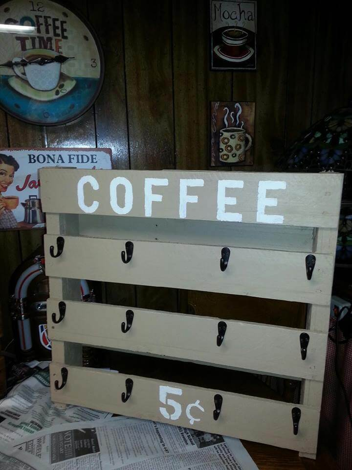 Wooden Pallet Coffee Mug Holders 99 Pallets